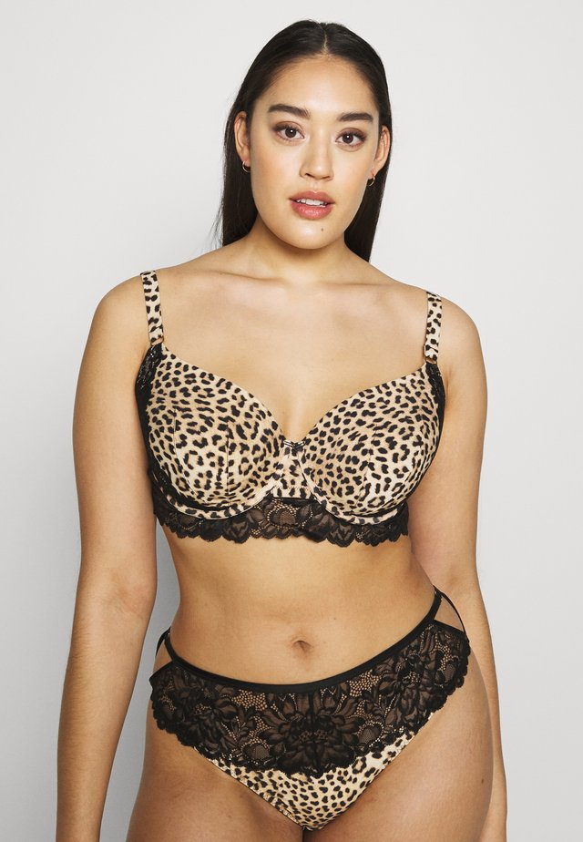MEGHAN BRA - Bøjle-bh'er - black/light brown