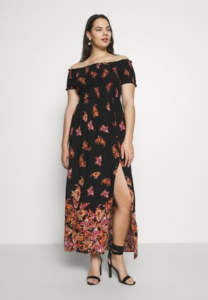BOHO BORDER - Maxi šaty - black/multi-coloured