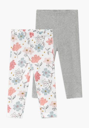 GIRL BABY 2 PACK - Leggings - multi-coloured/grey