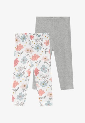 GIRL BABY 2 PACK - Leggings - Trousers - multi-coloured/grey