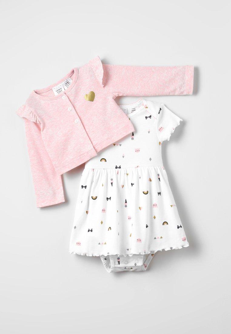 Carter's - BODYSUIT DRESS HEART SET - Vest - pink