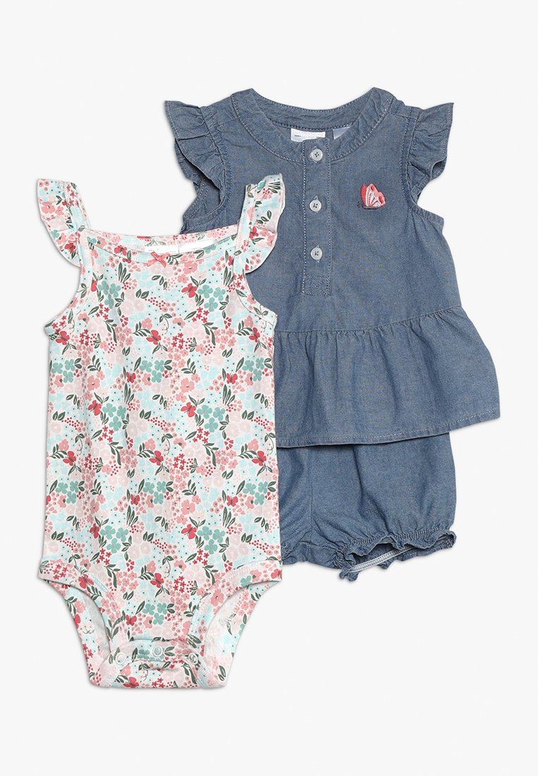 Carter's - BABY SET - Body - blue denim
