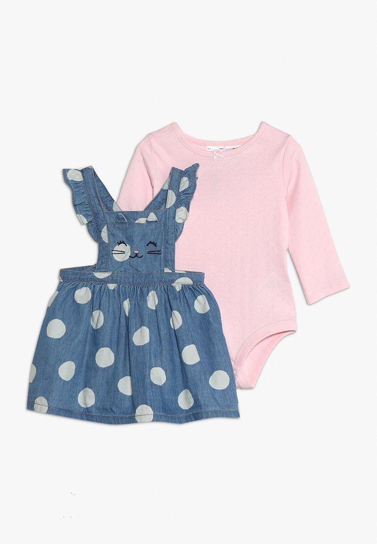 Carter's - BABY DOT DRESS SET - Body - blue