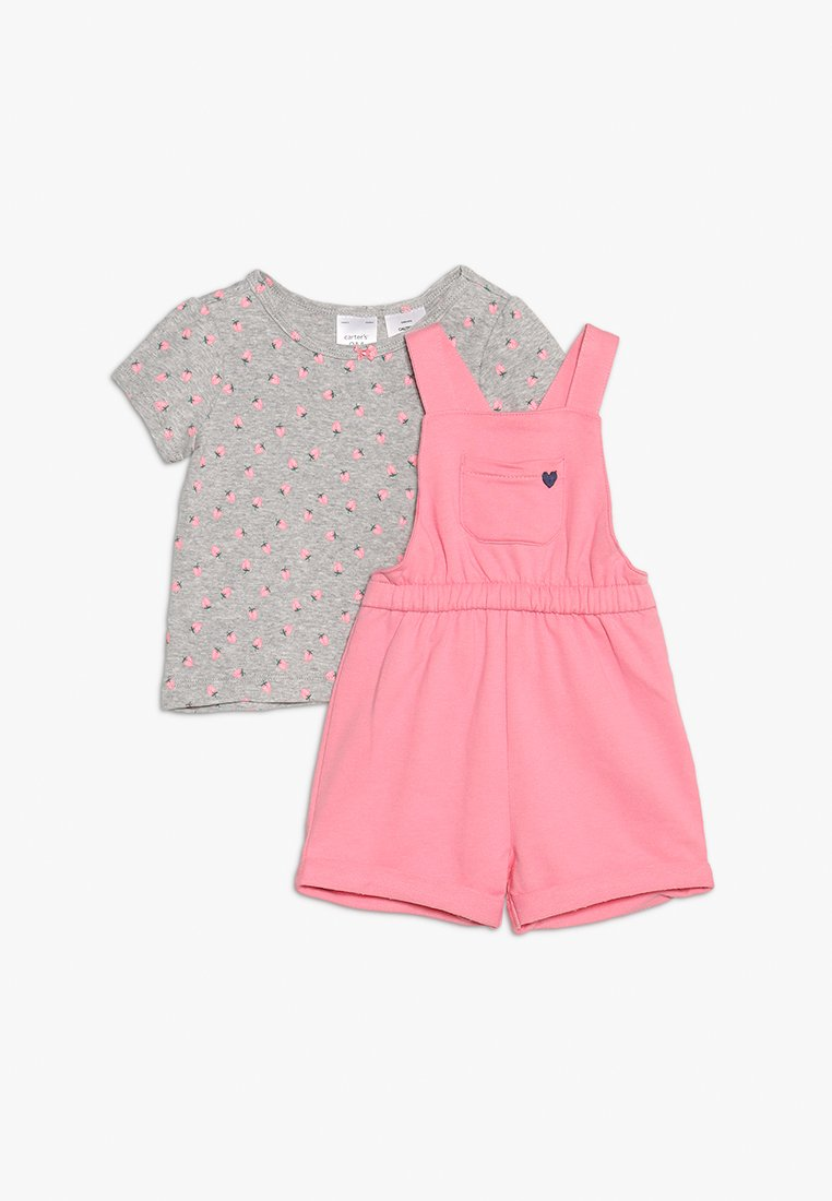 Carter's - BABY SHORTALL FLORAL SET - Overall /Buksedragter - pink