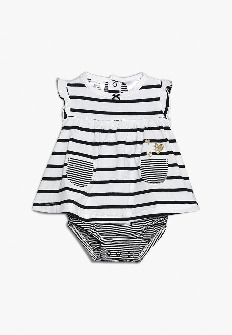 Carter's - BABY SUNSUIT STRIPE HEART - Jerseykjoler - white