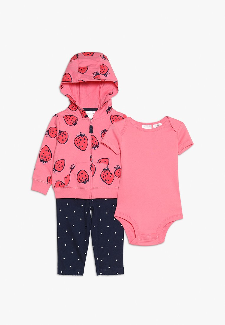 Carter's - BABY CARDI STRAWBERRY SET - Zip-up hoodie - pink