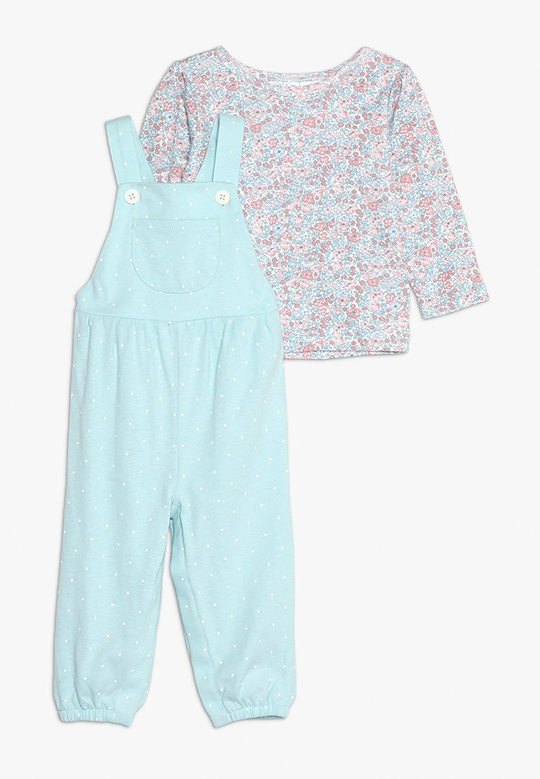 Carter's - BABY OVERALL FLORAL SET - Overall /Buksedragter - mint