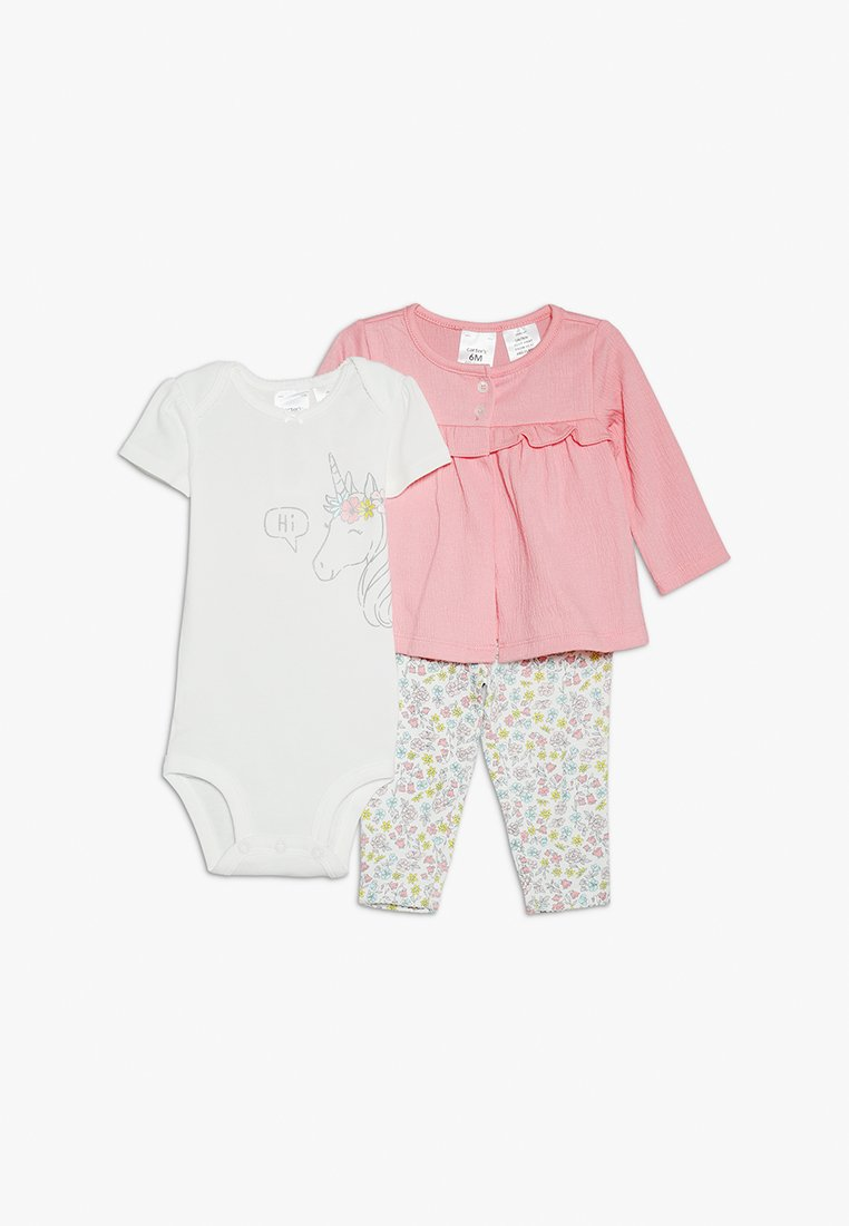 Carter's - BABY GIRL UNICORN FLORAL PANT SET - Body - pink