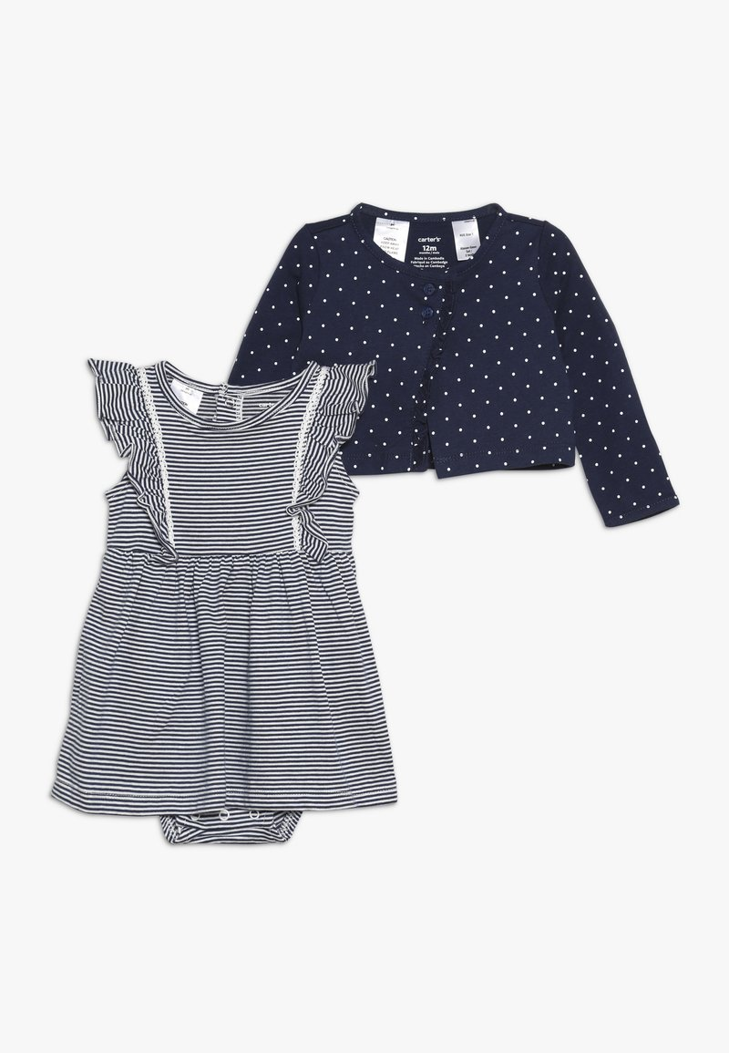 Carter's - BODYSUIT DRESS BABY SET - Strikjakke /Cardigans - blue