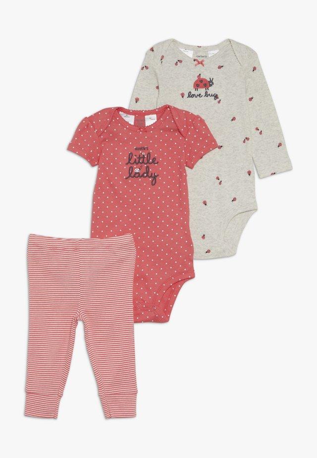 GIRL LADYBUG BABY SET - Leggings - pink