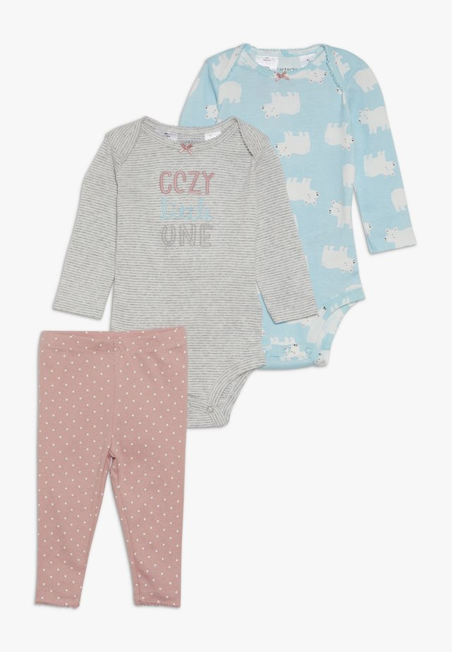 BABY SET - Body - turquoise/light pink