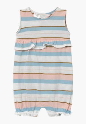 STRIPE RUFFLE - Overal - white, light pink