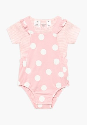 BIG DOTS SET - Overall / Jumpsuit /Buksedragter - pink