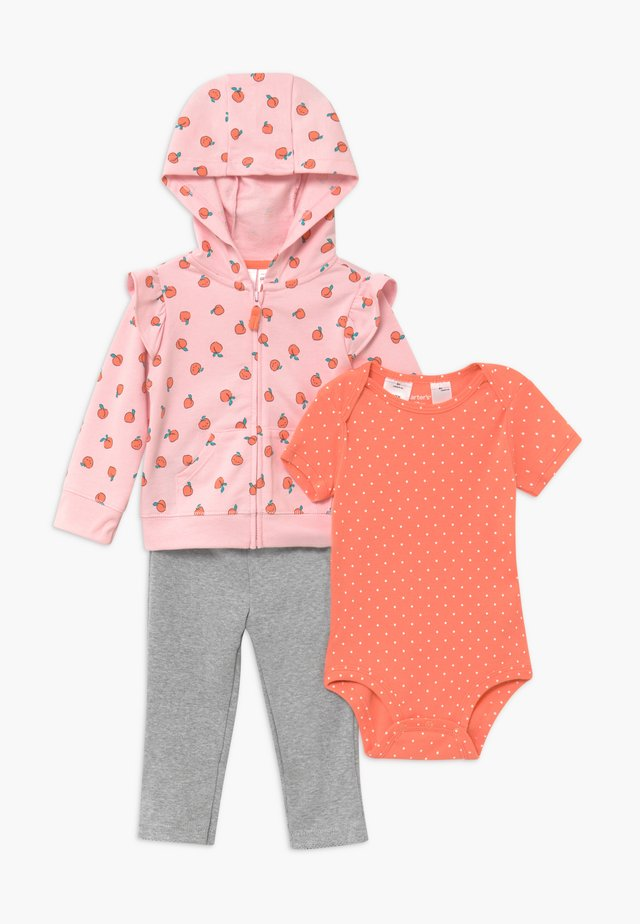 PEACHES SET - Mikina na zip - pink