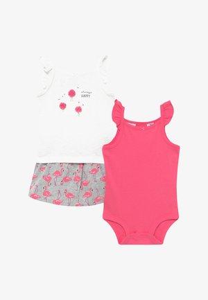 FLAMINGOS SET - A-lijn rok - pink