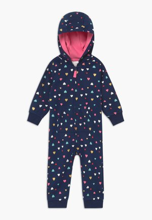 ALLOVER HEARTS - Jumpsuit - dark blue/multi-coloured