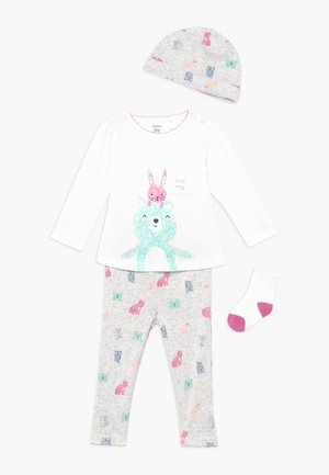 BEAR BABY SET - Čepice - heather