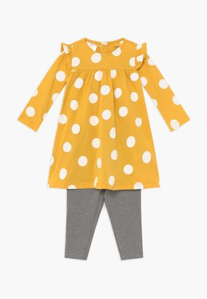 DOTS SET - Leggings - Trousers - yellow/mottled grey
