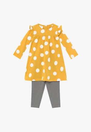 DOTS SET - Legíny - yellow/mottled grey