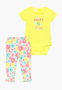 Carter's - MULTI FLOWERS SET - Leggingsit - yellow - 0
