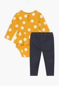 Carter's - DOTS SET - Legíny - yellow/blue denim - 1