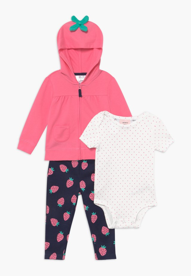 BERRY HOOD SET  - Mikina na zip -  pink
