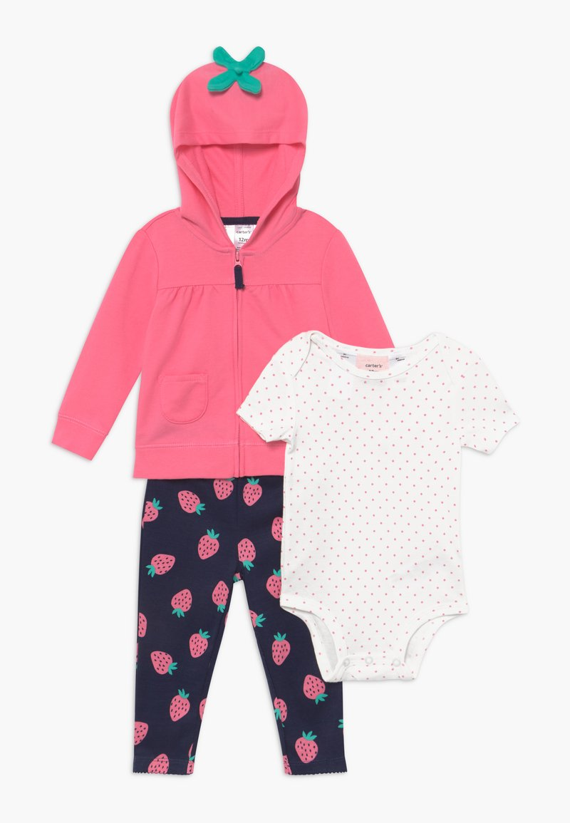 Carter's - BERRY HOOD SET  - Mikina na zip -  pink