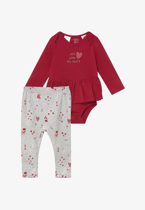 GIRL BABY SET - Leggingsit - dark red