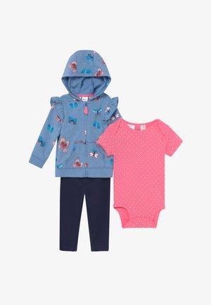 FLOWERS SET - Zip-up hoodie - light blue/dark blue