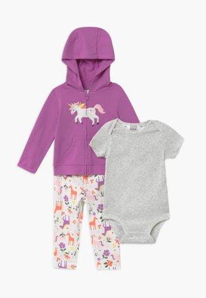 UNICORN SET - Zip-up hoodie - purple