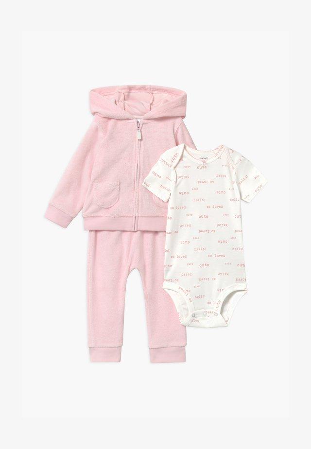 SET - veste en sweat zippée - pink