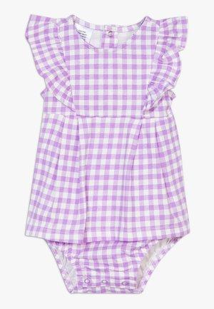 DRESS GINGHAM - Cocktail dress / Party dress - purple