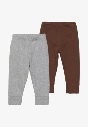 BOY PANT BABY 2 PACK - Trousers - grey melange
