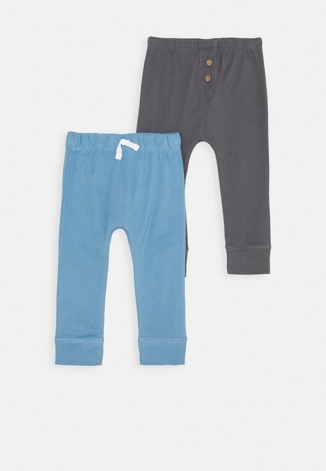 2 PACK - Pantalon classique - blau/anthrazit