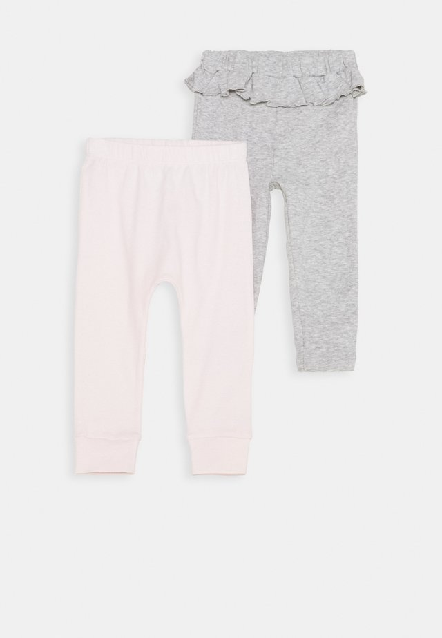 2 PACK - Kangashousut - light pink/mottled grey
