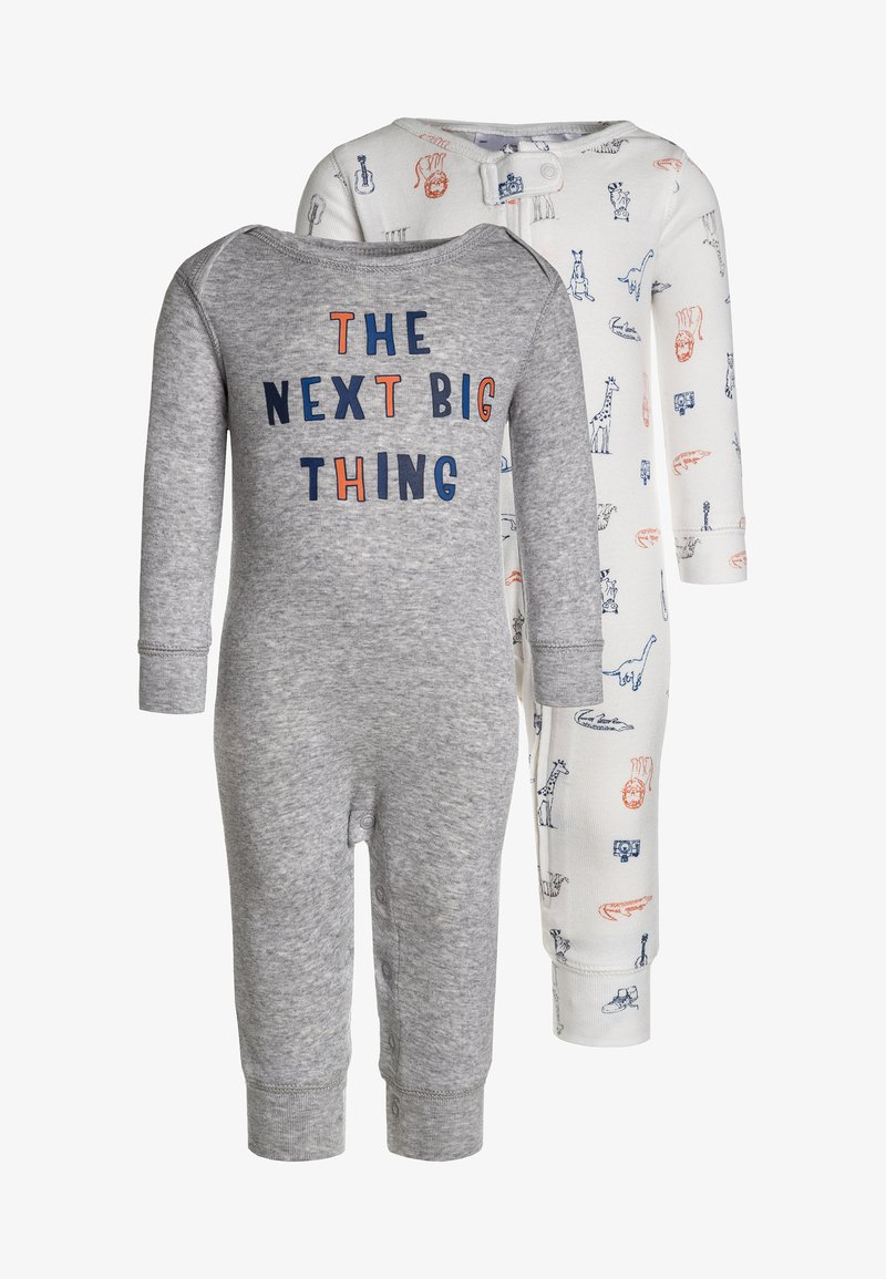 Carter's - CORE COVERALL BOY NEXT BIG THING 2 PACK - Jumpsuit - heather grey