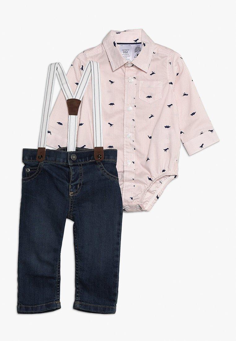 Carter's - BABY SUSPENDER SET - Straight leg jeans - rose