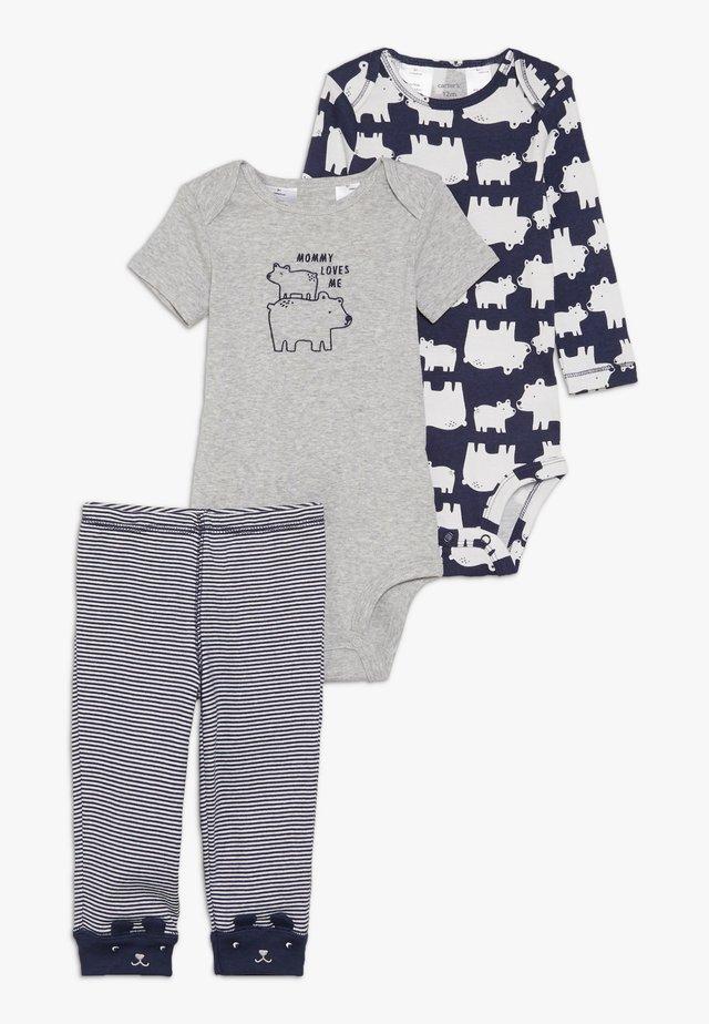 LITTLE CHARACTER BABY SET - Leggings - Trousers - navy