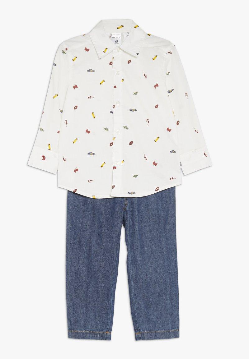 Carter's - TODDLER PLAYWEAR SET - Straight leg jeans - white