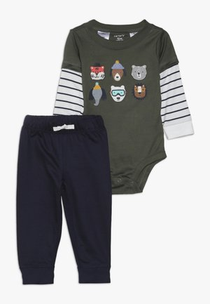 BODYSUIT PANT BABY SET - Trousers - green