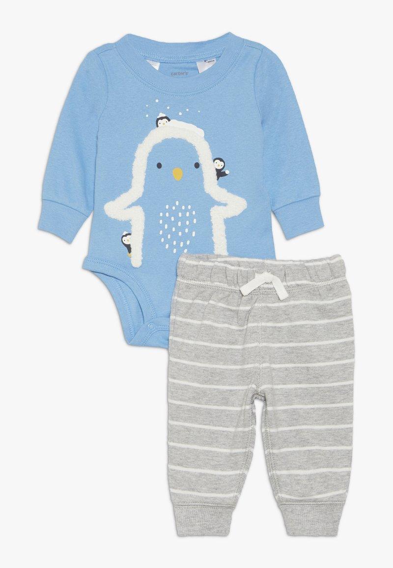 Carter's - BOY PANT BABY SET - Body - blue
