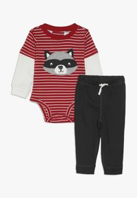 Carter's - BOY PANT BABY SET - Body - red - 0