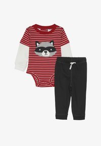 Carter's - BOY PANT BABY SET - Body - red - 4