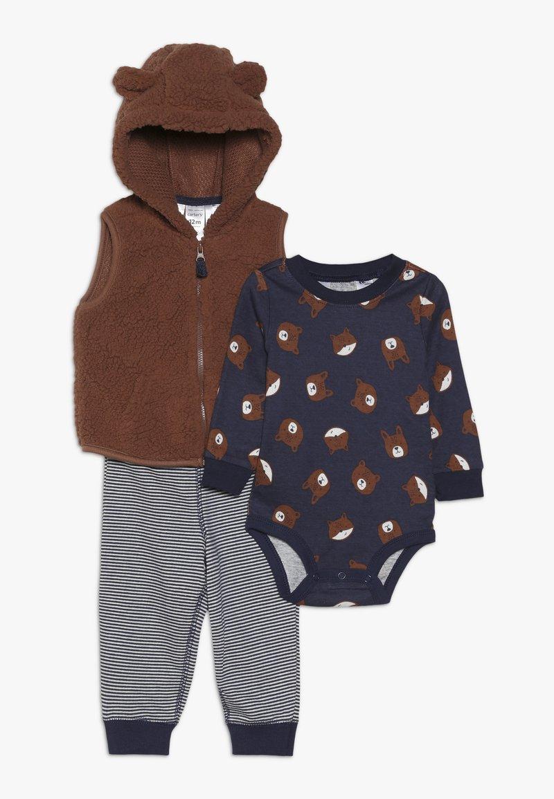 Carter's - VEST BABY SET - Väst - brown