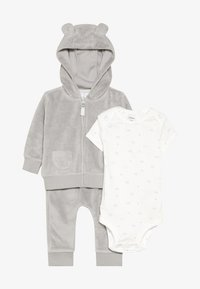 Carter's - TERRY BABY SET - Body - gray - 5