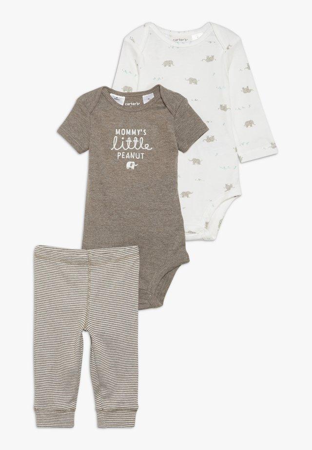 ELLIE BABY SET - Kalhoty - brown