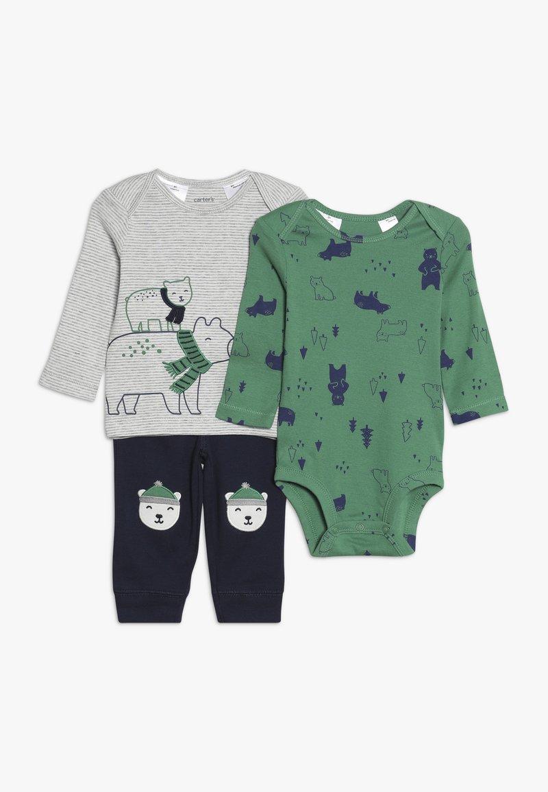 Carter's - WASHCLOTH BOY BABY SET - Body - green/dark blue