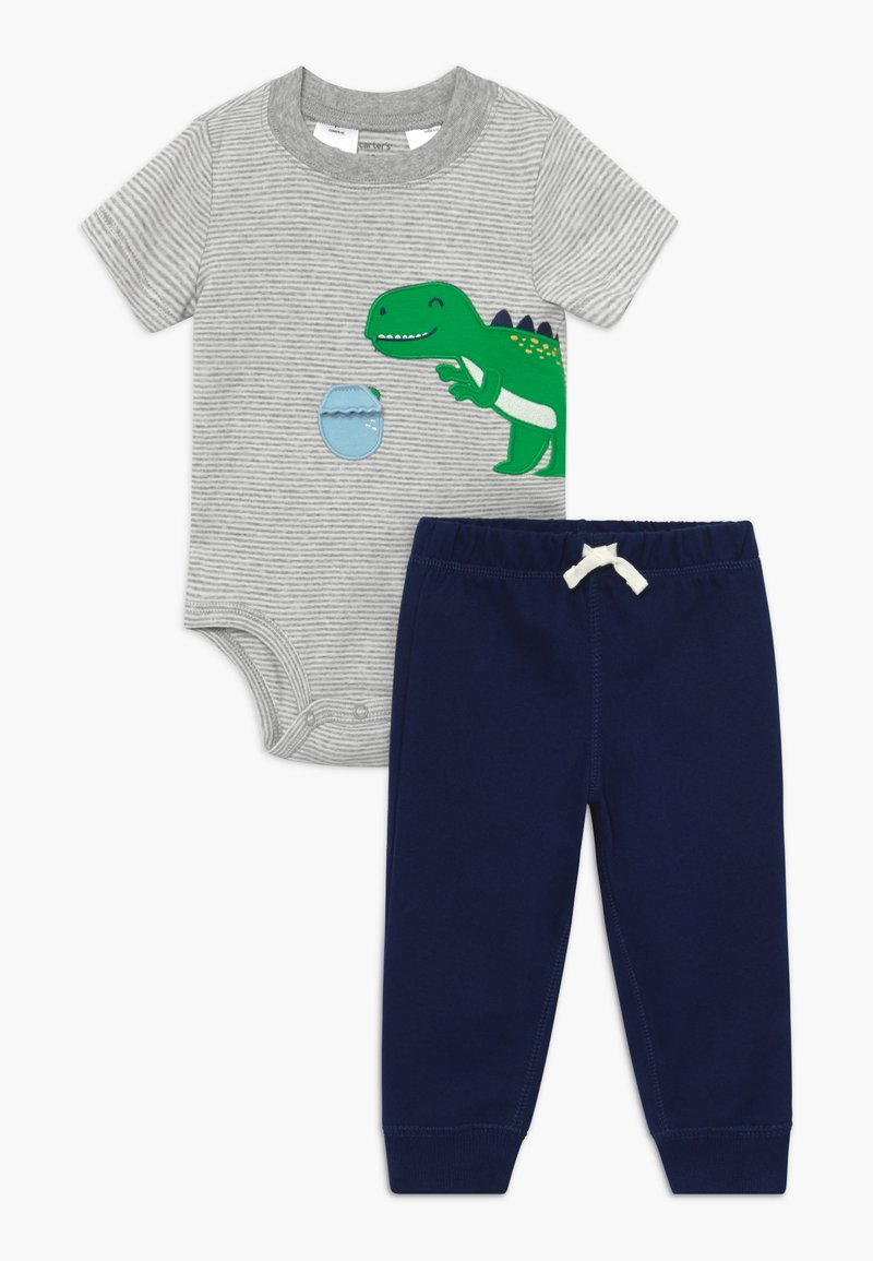 Carter's - DINO SET - Kalhoty - grey/dark blue