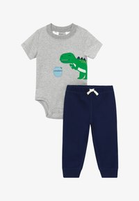 Carter's - DINO SET - Kalhoty - grey/dark blue - 3