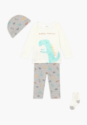 DINO BABY SET - Kangashousut - heather